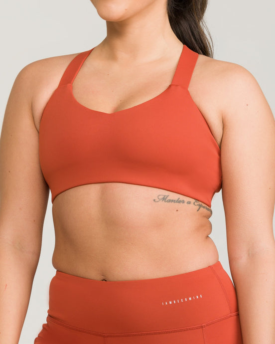 London Sports Bra Rust