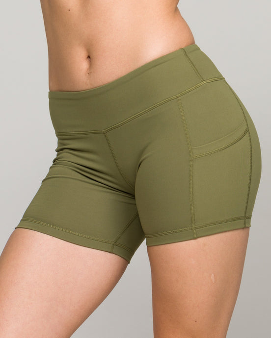Flex Pocket Shorts Army