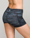 IAB Pocket Booty Shorts Camo Black