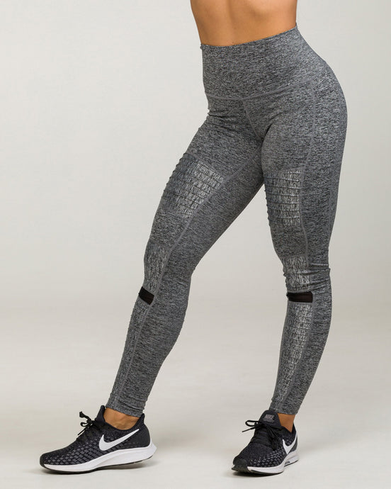 SOHO MOTO High-Waisted Legging Heather Charcoal