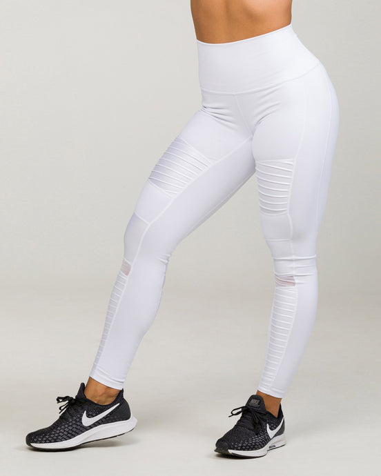 SOHO MOTO High-Waisted Legging Optic White