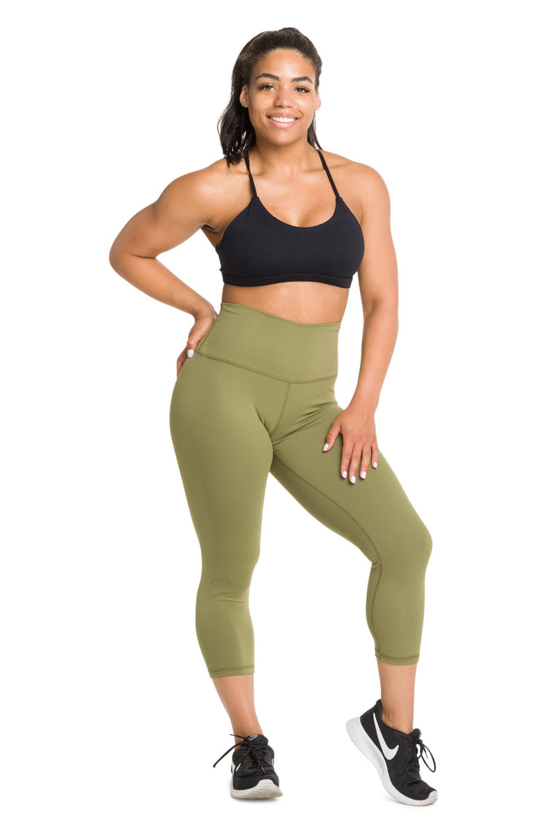 IAB Flex High Waisted CAPRI Army