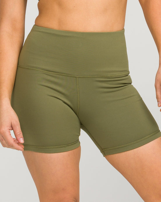 IAB Flex High Waisted 5-inch Shorts Army