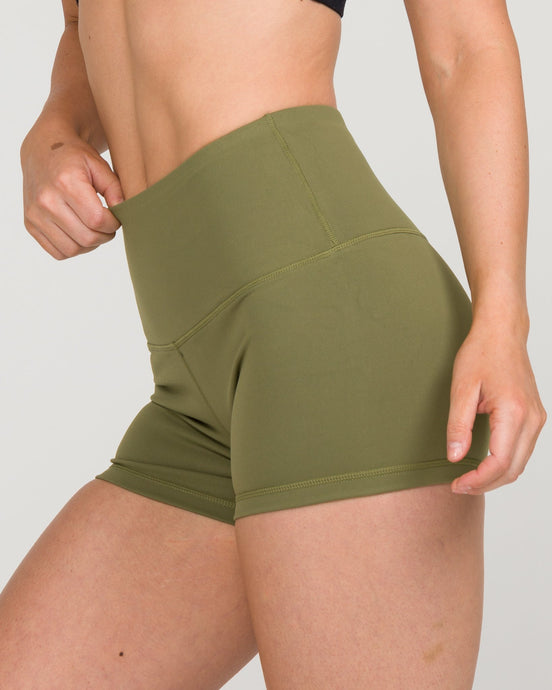IAB High Waisted Booty Shorts Army Green