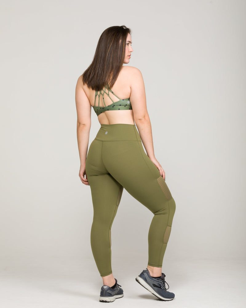 BANDE High-Waisted Legging Army