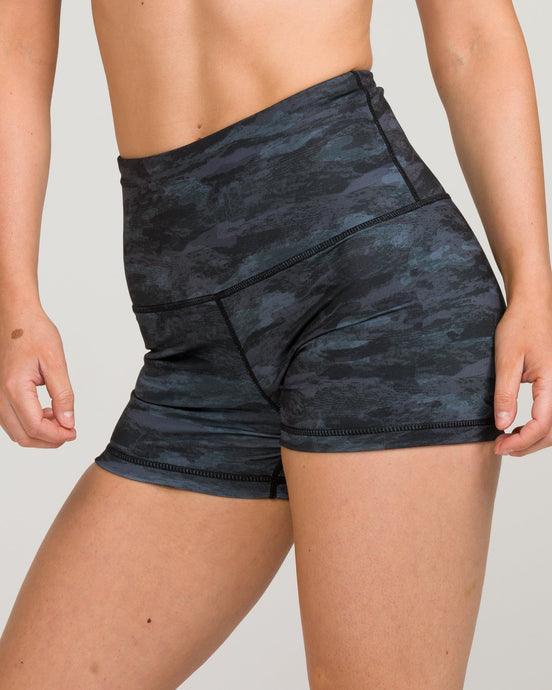 IAB High Waisted Booty Shorts Camo Black