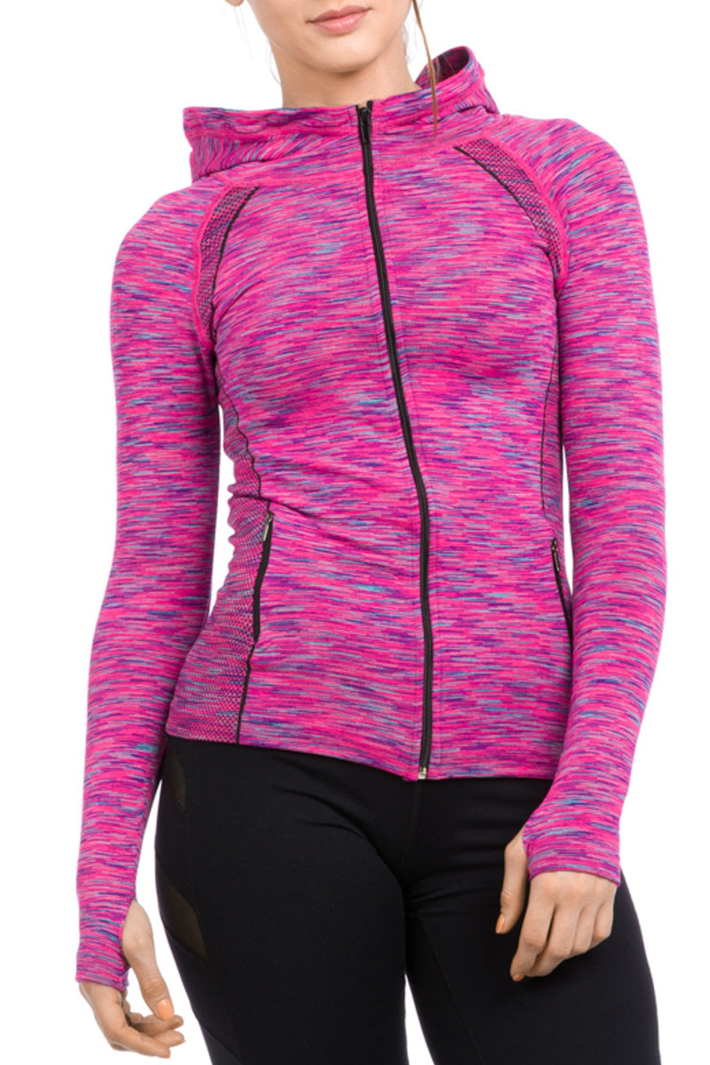Contour Jacket Heather Pink