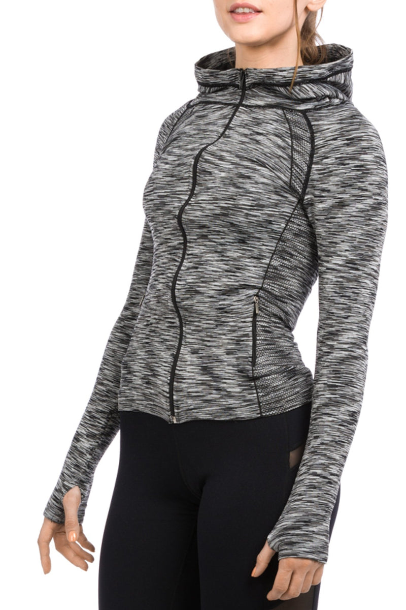Contour Jacket Heather Black