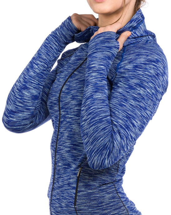 Contour Jacket Heather Blue