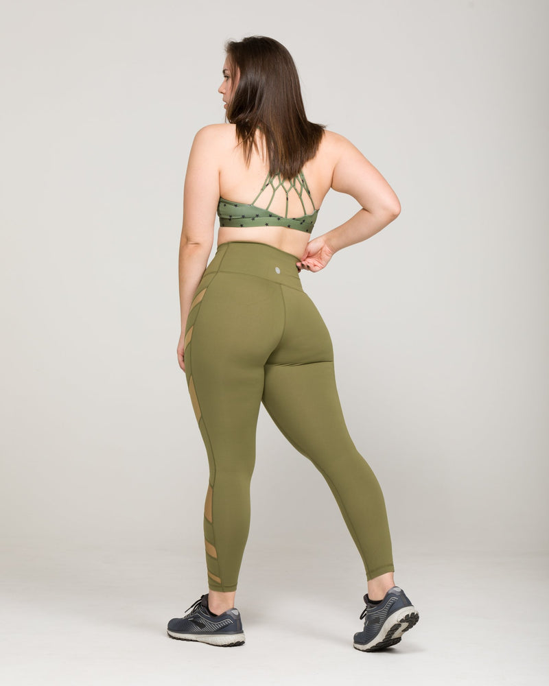 ELEVATE High-Waisted Legging Army