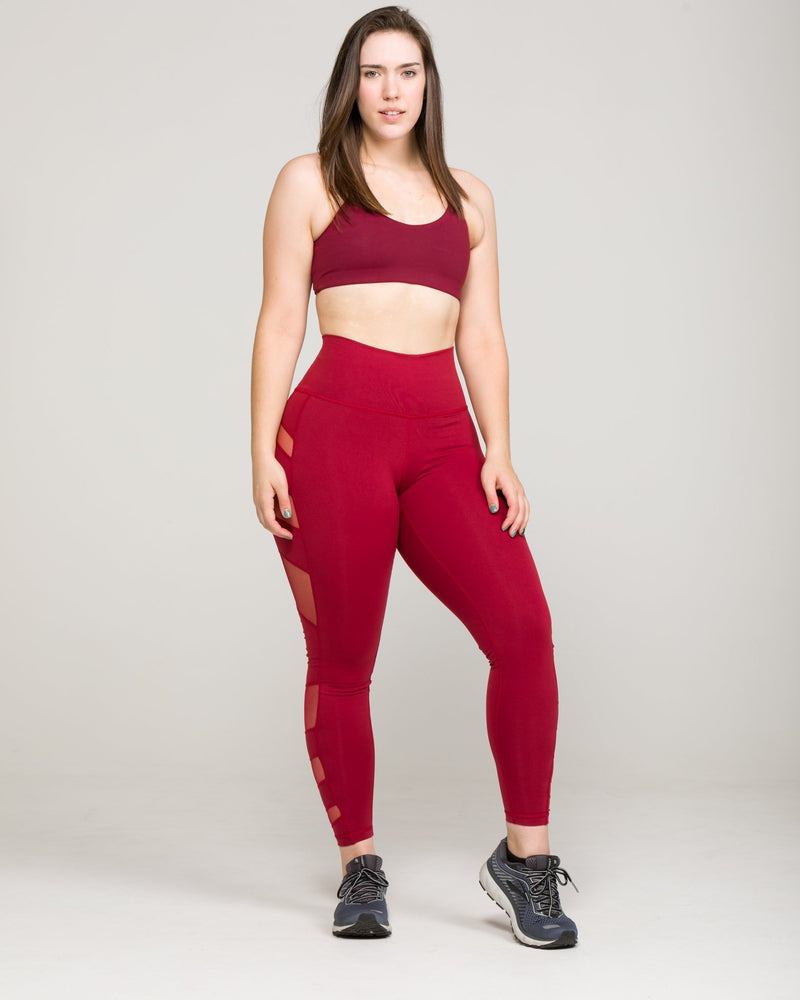 ELEVATE High-Waisted Legging Burgundy