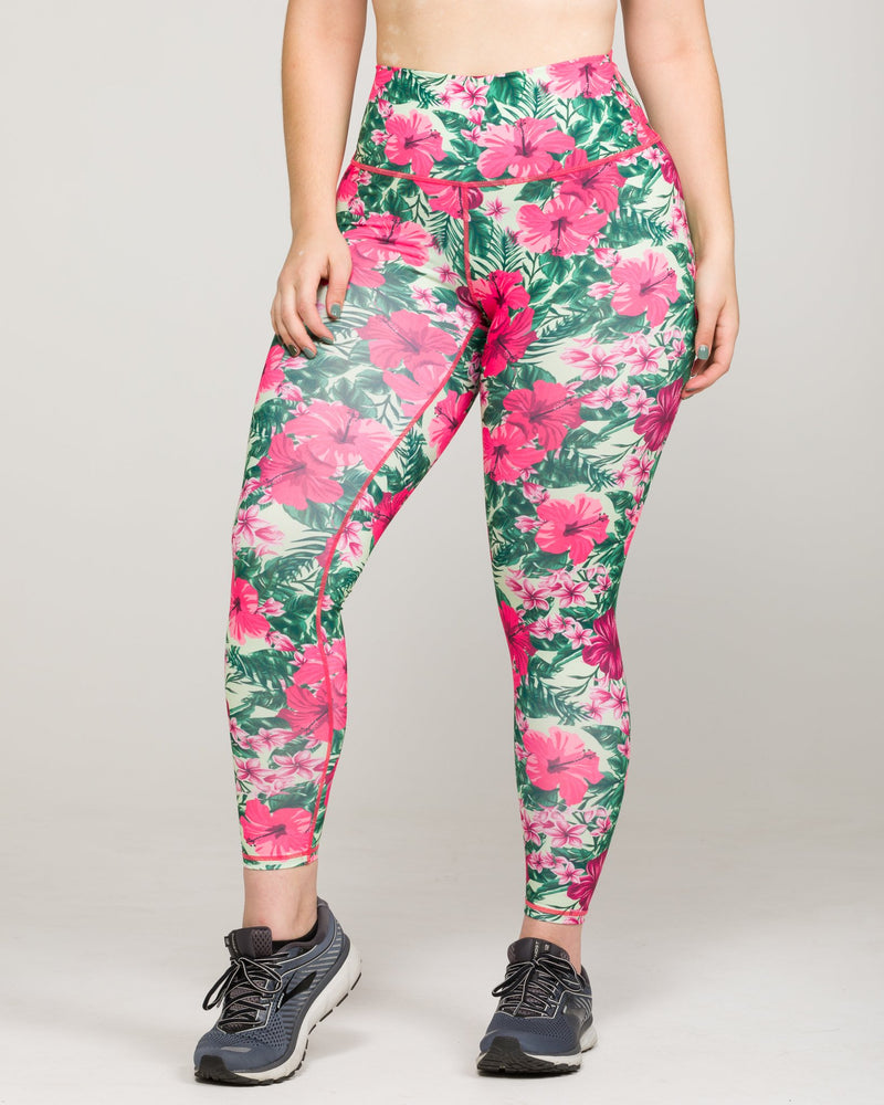 IAB Flex High-Waisted Full Length Hibiscus Jungle