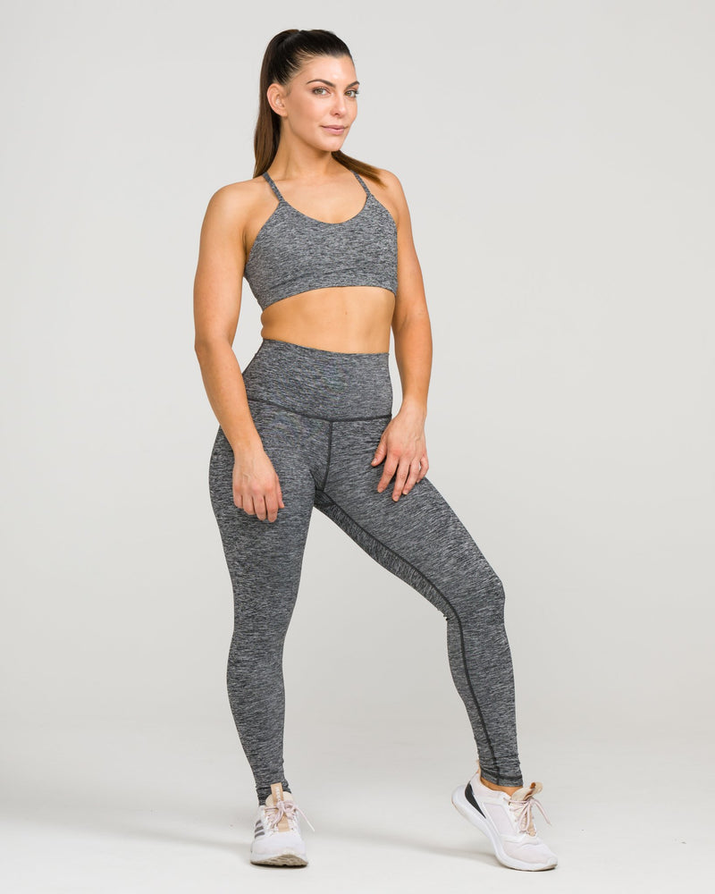 IAB Flex High-Waisted Full Length Legging Heather Charcoal