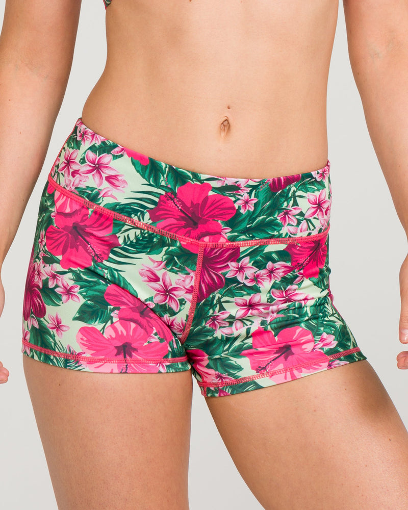 IAB Booty Shorts Hibiscus Jungle
