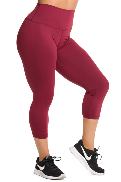 IAB Flex High Waisted CAPRI Windsor Wine