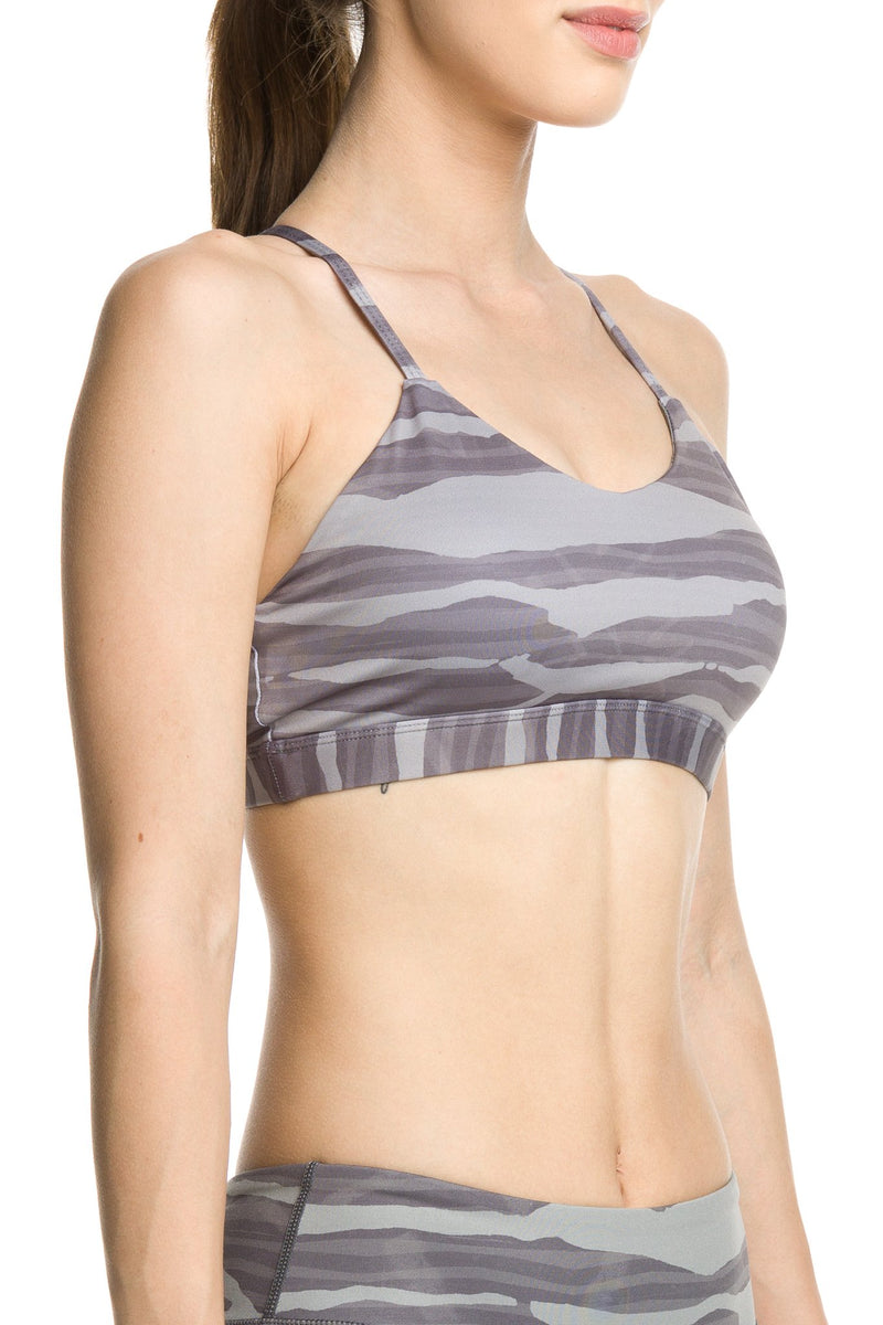 Namaste Sports Bra Zebra Love Smoke