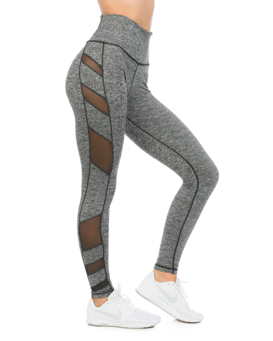 ELEVATE High-Waisted Legging Heather Charcoal