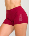 IAB Booty Shorts Burgundy Bliss