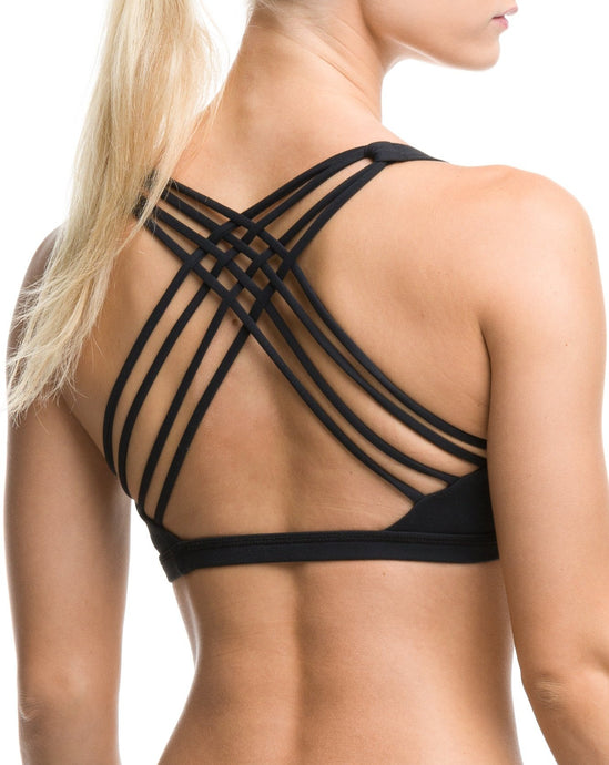 Stretch Sports Bra Jet Black