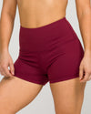IAB High Waisted Booty Shorts Windsor Wine