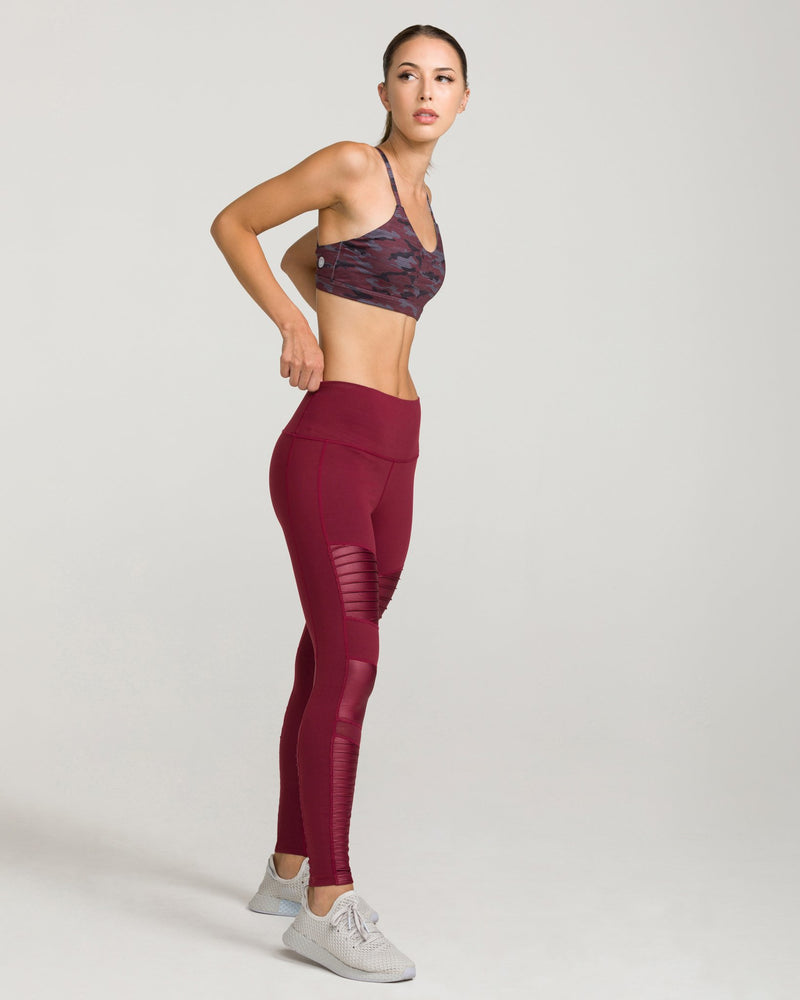 SOHO MOTO High-Waisted Legging Windsor Wine