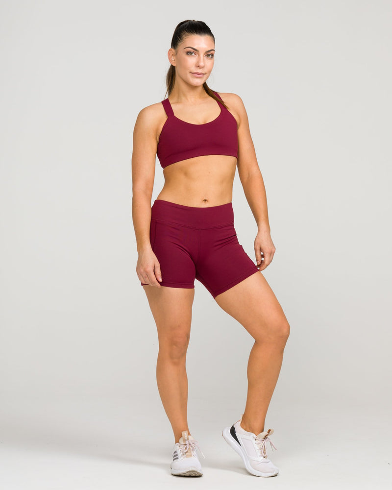 London Sports Bra Windsor Wine
