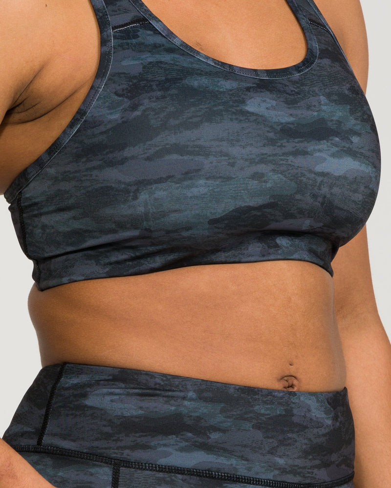 IAB Flex Sports Bra Camo Black