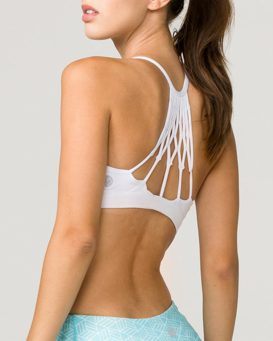 Namaste Sports Bra Optic White
