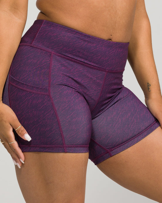 Flex Pocket Shorts Classic Plum