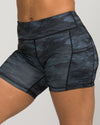 Flex Pocket Shorts Camo Black
