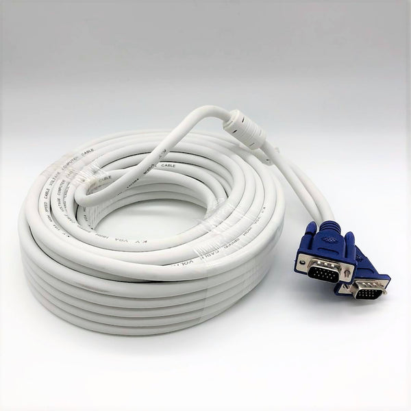 VGA Cable - Male to Male - 15m - by Raz Tech