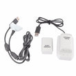 Microsoft Xbox 360 Generic controllers 4-in-1 Battery Pack Dock White