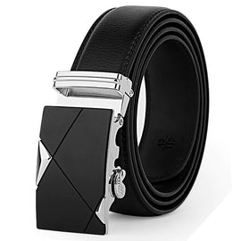 Astro Automatic Black Leather Belt