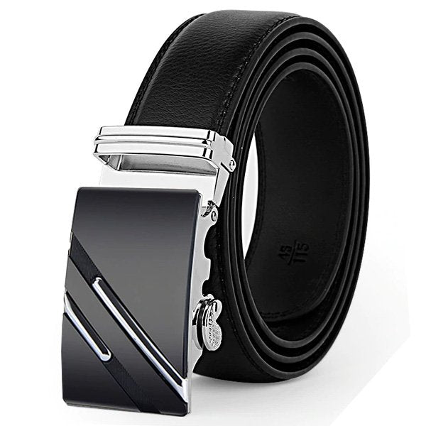 Delta Automatic Black Leather Belt
