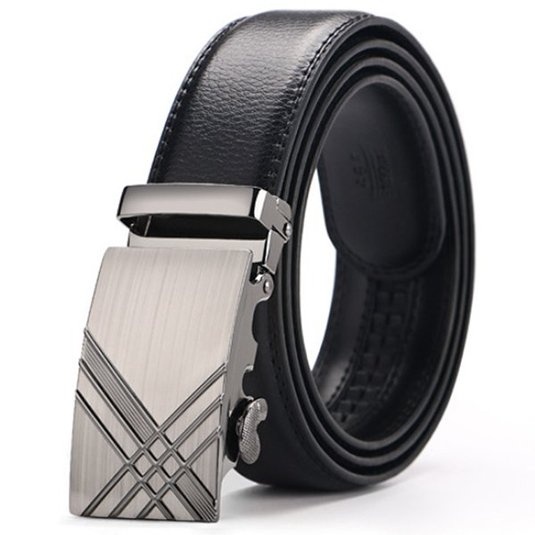 Impulse Automatic Black Leather Belt