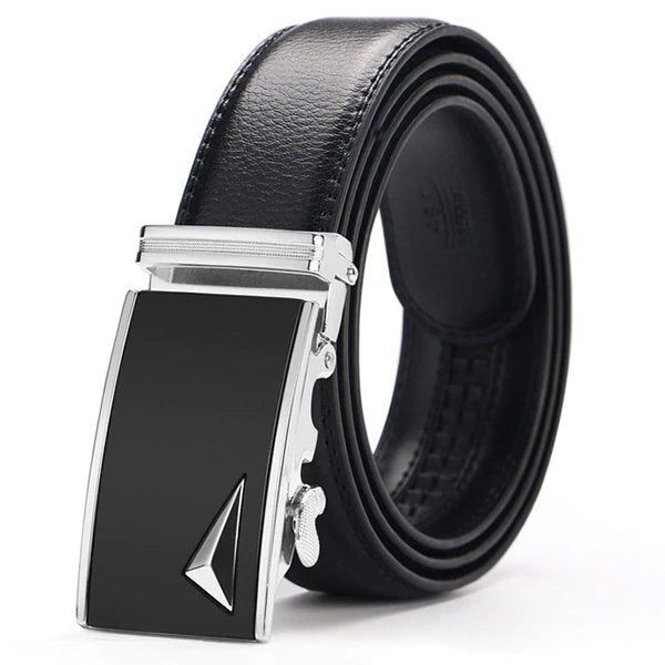 Mach Automatic Black Leather Belt