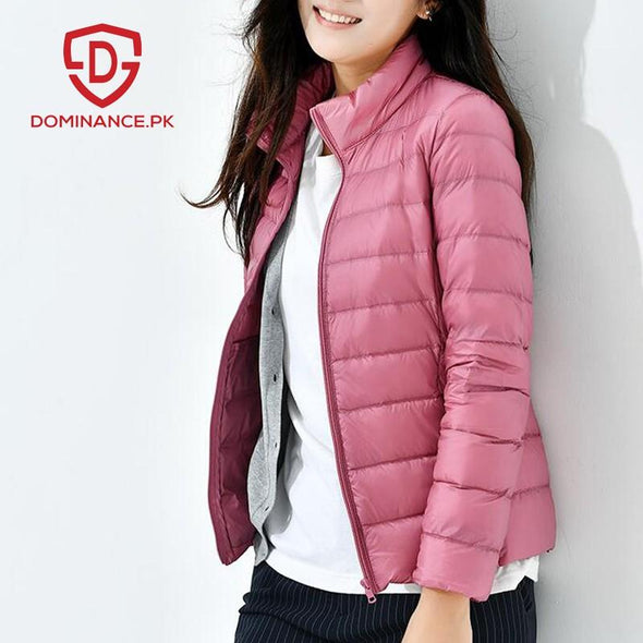 Buy Down Ladies Jacket – Pink at Dominance