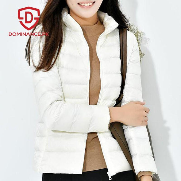 Buy Down Ladies Jacket – White at Dominance