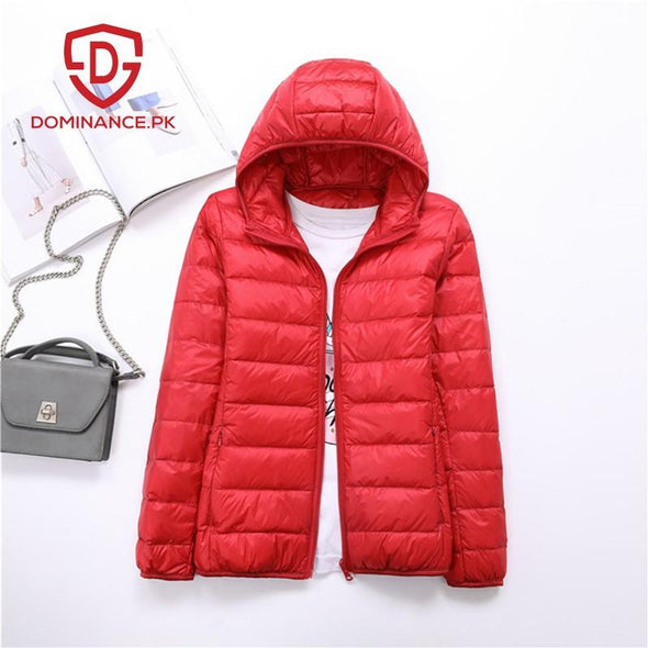 Buy Imported Down Ladies Jacket – Orange at Dominance