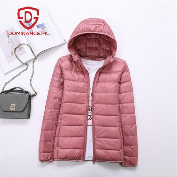 Buy Imported Down Ladies Jacket – T-Pink at Dominance