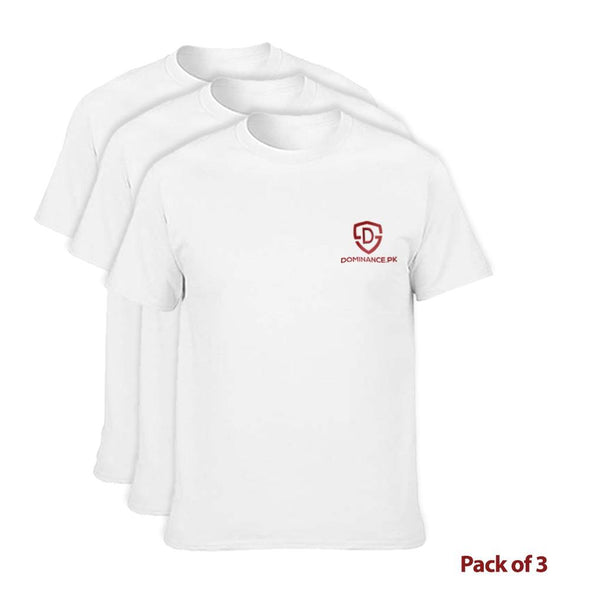 Buy Pack Of 3 Cotton T-Shirt at Dominance