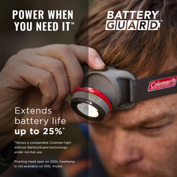 COLEMAN BATTERYGUARD 100L LED HEADLAMP