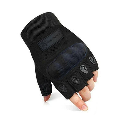 DOMINANCE HALF FINGER MENS GLOVES SUMMER - Black