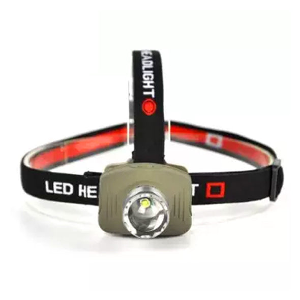 1 Led Head Lamp With Zoom- Black