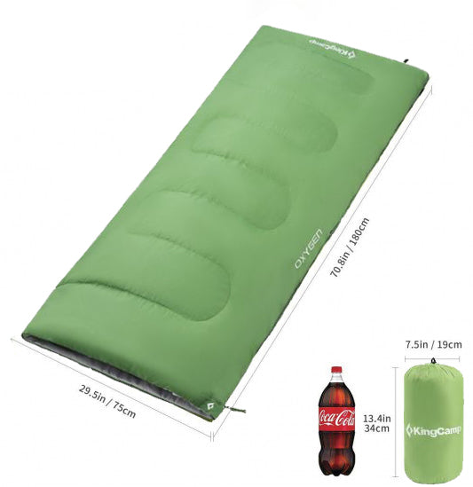 OXYGEN Square Light weight Sleeping Bag (GREEN)