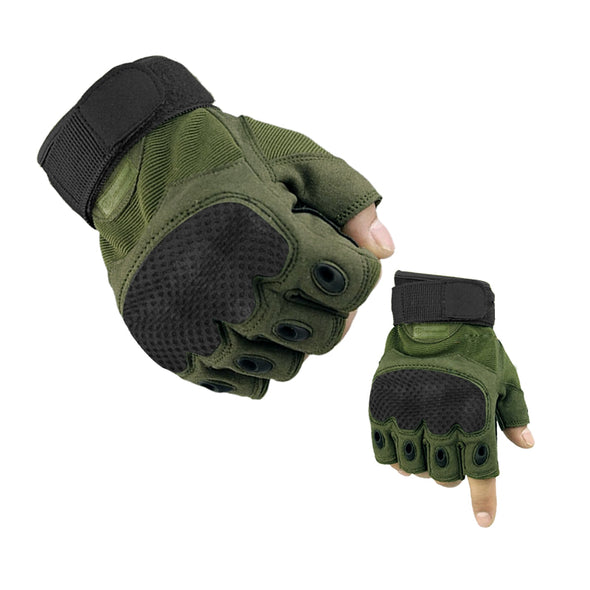 Dominance Half Finger Gloves - Green