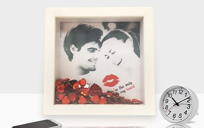 Valentine Gift Idea #5: Valentine's themed photo frames.
