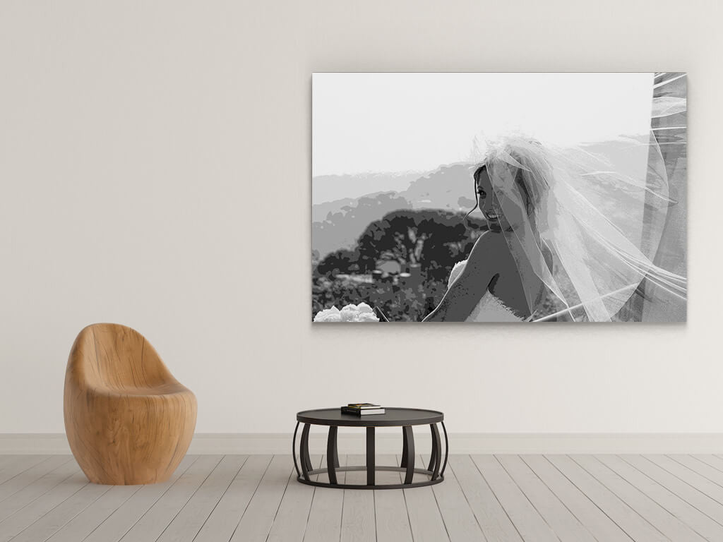 Black white canvas prints