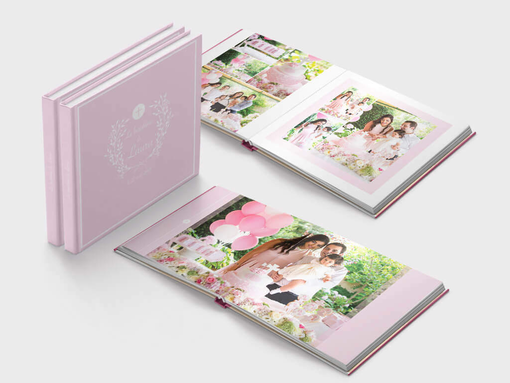 Baptism photo book - square format - Layflat