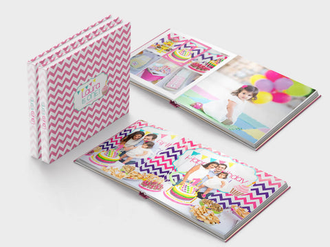 Birthday photo book - first year - square format - Layflat